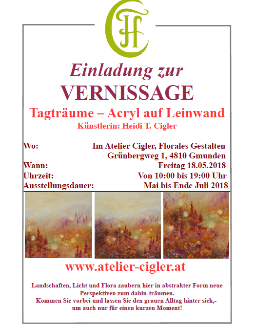 Heidi Cigler – Einladung zur VERNISSAGE